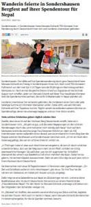 Thüringer Allgemeine Sondershausen 25.07.2015